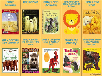 April Listening Center - Baby Animals