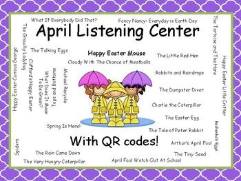 April Listening Center PreK-4 with QR Codes