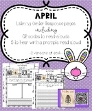 April Listening Center Response Pages QR Codes to read-alouds & Prompts