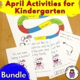April Literacy Center Activities Bundle for Kindergarten