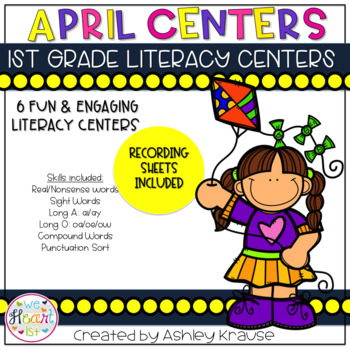 April Literacy Centers - 1st Grade