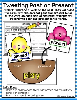 April Literacy Centers - First Grade