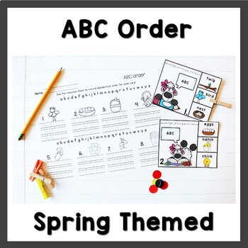 April Literacy Centers First Grade