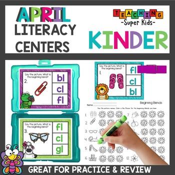 April Literacy Centers Kindergarten