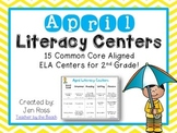 April Literacy Centers Menu {Common Core Aligned} Grade 2