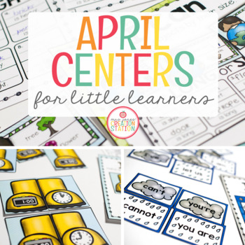 April Literacy Centers and Math Centers