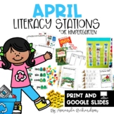 April Literacy Centers and Stations in Print and Digital Format