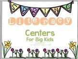 April Literacy Centers for Intermediate Grades