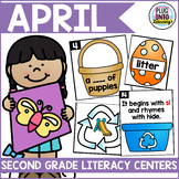 April Literacy Centers for Second Grade