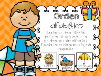 April Literacy Centers in Spanish