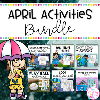 April Literacy, Science, and Math Activities Bundle