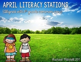 April Literacy Stations- Aligned with First Grade Common Core