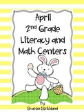 April Literacy and Math Centers-Second Grade Common Core Aligned