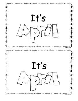 April Little Reader Book/Emergent Readers