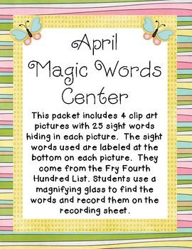 April Magic Words