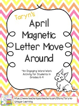April Magnetic Letter Move Around