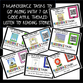 April Makerspace STEM Reading Listening Comprehension Creation Station
