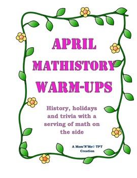 April MatHistory Warmups