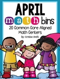 April Math Bins- 20 Common Core Aligned Math Centers