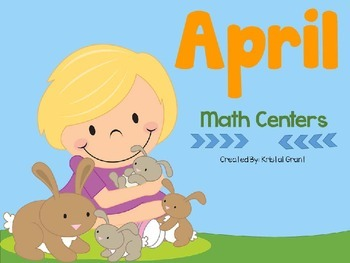April Math Centers (8 Hands-On Games)