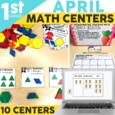 April Math Centers & Activities for 1st Grade