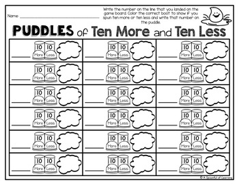 April Math Centers - First Grade