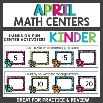 April Math Centers for Kindergarten