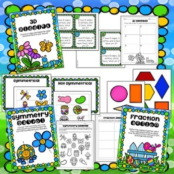 Math Centers - Geometry and Fractions
