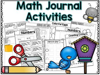 April Math Centers, Journals, and Printables Kindergarten
