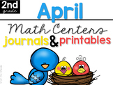 April Math Centers, Journals, and Printables Second Grade