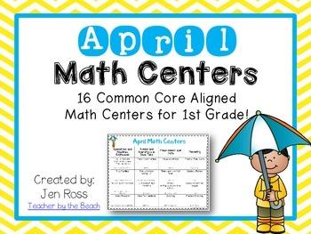 April Math Centers Menu {CCS Aligned} Grade 1