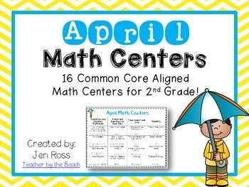 April Math Centers Menu {Common Core Aligned} Grade 2