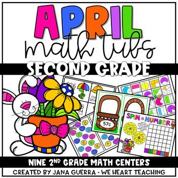 April Math Centers SECOND GRADE