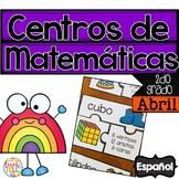 April Math Centers SPANISH 2nd grade - Centros de matematicas en ESPAÑOL