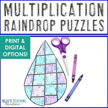 April Math Centers   Spring Math Centers   Multiplication Raindrop Math Puzzles