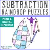 April Math Centers   Spring Math Centers   Subtraction Raindrop Math Puzzle Game