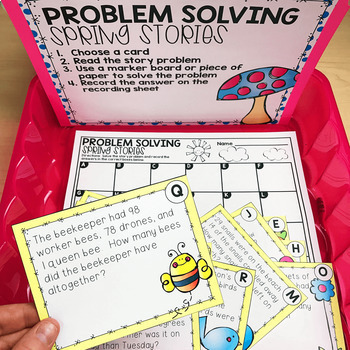 April Math Centers and Activities for 2nd Grade