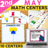 May Math Centers and Activities for 2nd Grade | Printable
