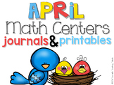 April Math Centers and Printables First Grade