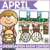 April Math Centers for Kindergarten