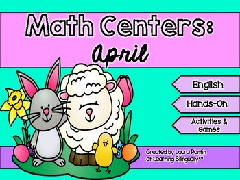 April Math Centers in English