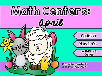 April Math Centers in Spanish