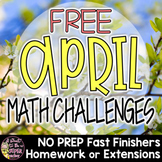 Easter Math Activities | Spring Math Worksheets | Challenges or Enrichments FREE
