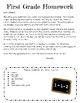 Math Homework 2D/3D Shapes and Attributes, NO PREP
