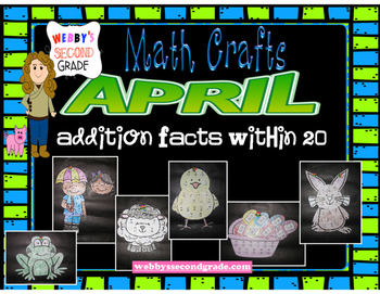 April Math Crafts Addition Facts within 20