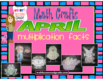 April Math Crafts Multiplication Facts