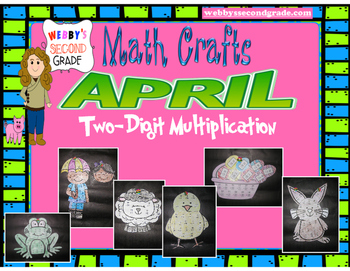 April Math Crafts Multiplying Two-Digit Numbers
