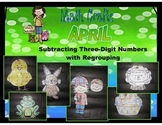 April Math Crafts Subtracting Three-Digit Numbers With Regrouping