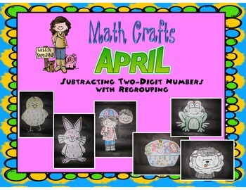 April Math Crafts Subtracting Two-Digit Numbers With Regrouping