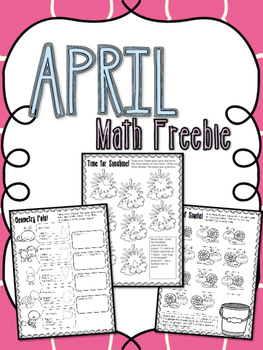 April Math Freebie